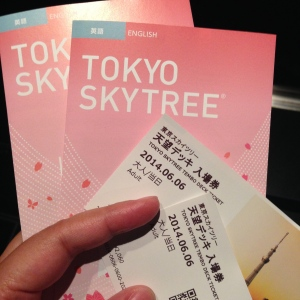 Tickets to the Tokyo Skytree